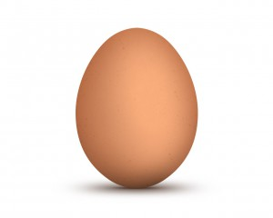 Здесь нарисовано коричневое яйцо
